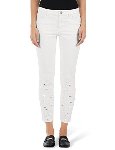 Marc Cain Collections Damen GC 82.23 D06 Slim Jeans, Weiß (Off-White 110), (Herstellergröße: N4/40)