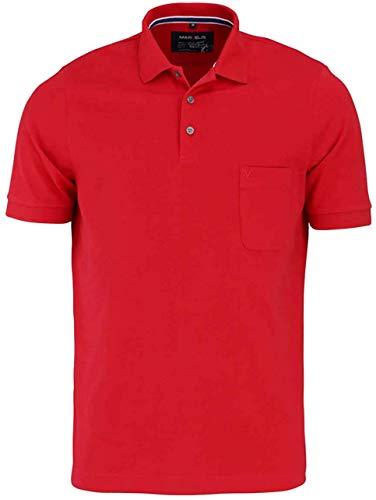 Marvelis Halbarm Poloshirt geknöpfter Quick-Dry mittelrot Größe XXL