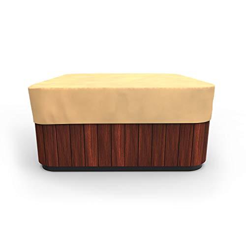 EmpirePatio Classic Nutmeg Square Hot Tub Cover, Medium
