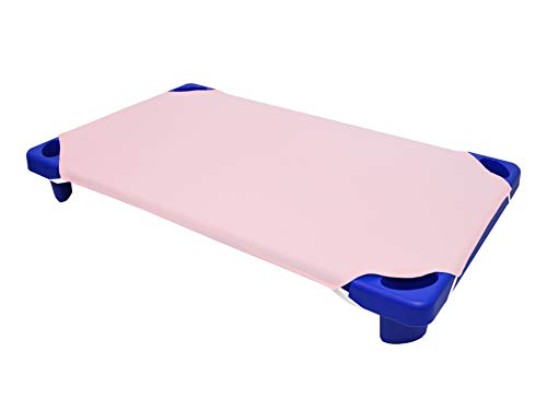 American Baby Company 100% Natural Cotton Percale Toddler Daycare/Pre-School Cot Sheet, Pink, 23 x 40, Soft Breathable, for Girls