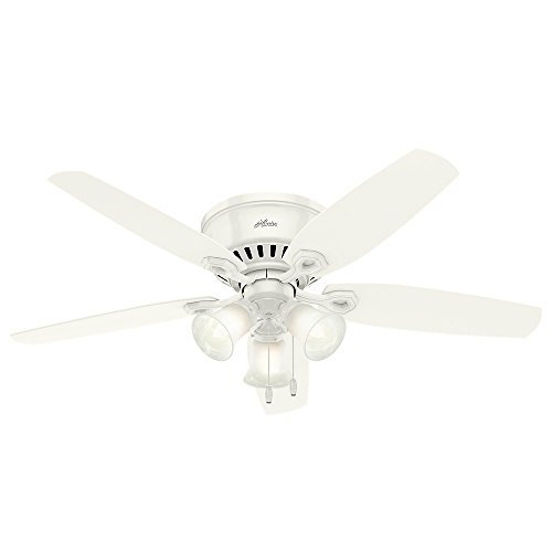 Hunter Builder Indoor Low Profile Ceiling Fan with LED Light...