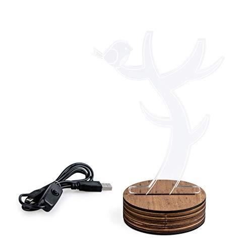 Balvi tafellamp en sieradenstandaard Light Tree met LED-lamp in de vorm van een blad hout/acryl