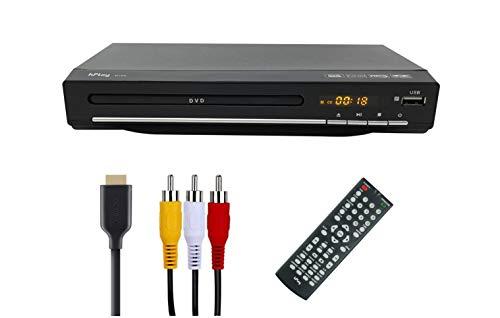 hPlay Compact Desktop DVD Media Player for TV, Region Free, HDMI & RCA...