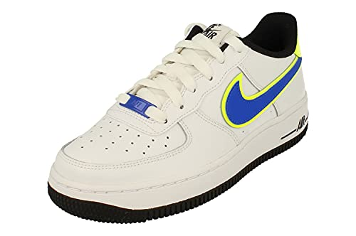 Nike Air Force 1 07 GS Trainers DB1555 Sneakers Scarpe (UK 5.5 us 6Y EU 38.5, White Racer Blue Volt 100)