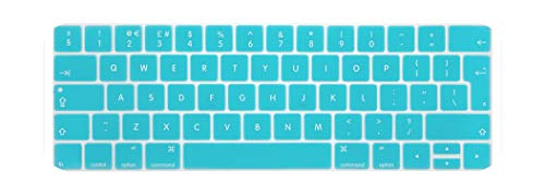 EU silicone keyboard protector For MacBook Pro 13 with Touch Bar A1706 A1989 A2159 Pro 15 Touchbar A1707 A1990 keyboard cover-White Blue-