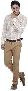 EL FIGO Men's Multi Color Printed Full Sleeve Poly Cotton Casual Shirt Classic Collar, Sizes S - XXL