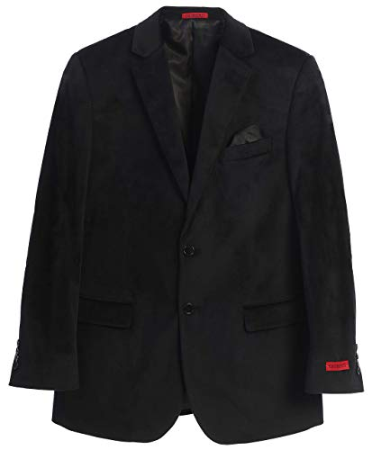 Gioberti Mens Formal Super Soft Velvet Blazer Jacket, Black, 44 Regular