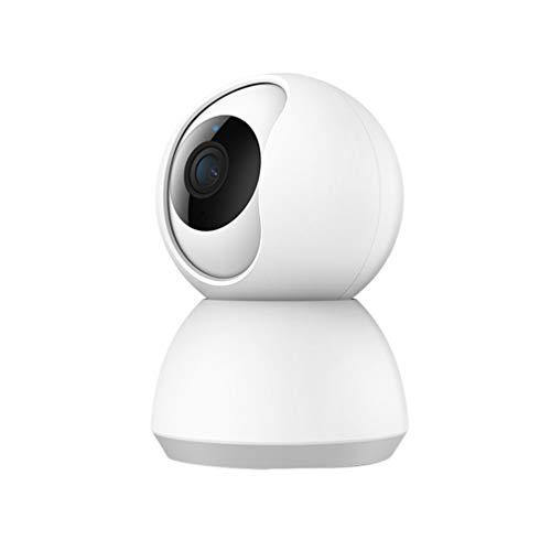 WLAN IP Kamera Überwachungskamera 1080P,WiFi Nachtsicht 2 Wege-Audio,Home Kamera/Haustier Baby Kamera,App Steuerung unterstützt,Remote Alarm Weiß(UK) 81 * 79 * 117MM