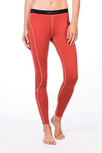 Super.Natural W Base Tight 175 sous-vêtement Fonctionnel pour Femme avec Laine mérinos XXL Rouge Clair/Rose