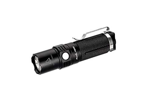 Fenix PD25 flashlights (Hand Flashlight, LED, CR123A, 16340, Black, Aluminium, IPX8) Unisex-Adult, Small