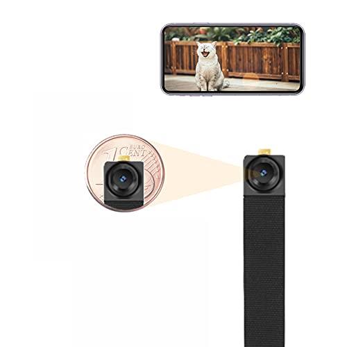 Mini Kamera, HD Kleine Überwachungskamera mit APP, Tragbare Mikro Sicherheitskamera Innen mit Bewegungsmelder, WLAN IP Kamera Videorecorder, WIWACAM MW3, Support in Deutschland