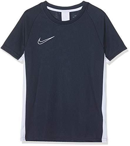 Nike Academy Top Short-Sleeve, T-Shirt Bambino, Obsidian/White/(White), XL