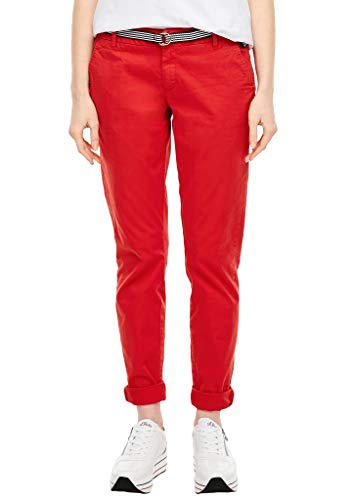 s.Oliver RED LABEL Damen Regular Fit: Chino mit Gürtel red 36.32
