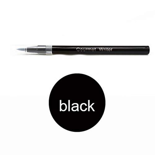 Bolígrafo para colorear galletas, para decoración de tartas y tartas, para tartas, galletas, etc. 1 unidad negro