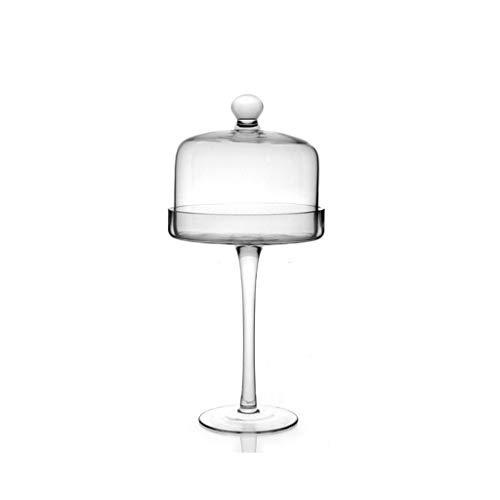 C-J-Xin Glas-Etagere, Tray Transparent Kuchen Dome Keksdose Hoch Käse-Behälter for...