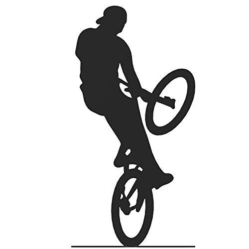 Extreme Bike Rider Cyclist   Bicyclist   Black Metal Figurine   Statuette   Bicycle Shelf Decoration   Tom the bike rider