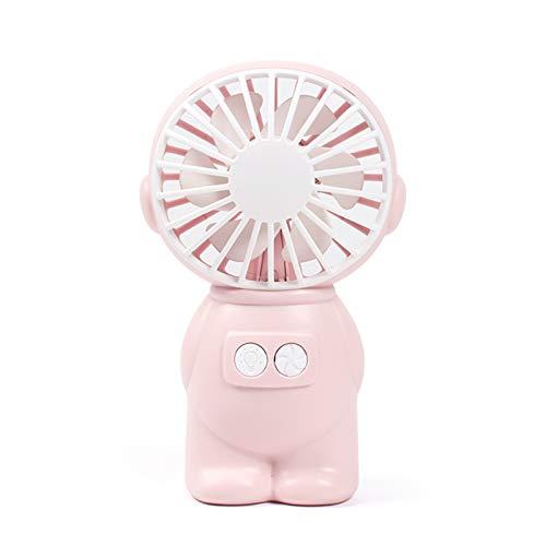 Clenp La Mini Fan, Ventila La Mini Fan Derecha De Escritorio De Poco Ruido Potable del ABS para El Verano Rosa Talla única