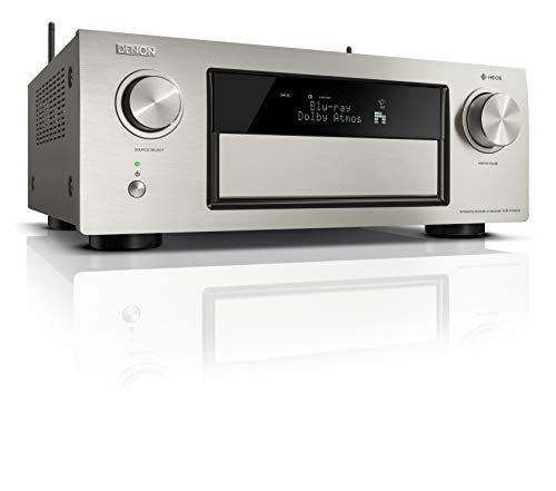 Denon AVRX4400H 9.2 Premium AV-Receiver (HEOS Integration, Dolby Vision Komtabilität, Dolby Atmos, dtsX, WLAN, Bluetooth, Amazon Music, Spotify Connect, HDMI Eingänge, 9x 200 W) premium-silber