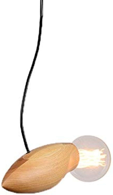 LMDH Lustre E27 Vintage Lustre En Bois Suspension pendentif Luminaire for Salle à Manger Cuisine Lustre De Chambre