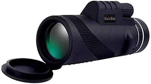 ZHBH Telescopios monoculares para Adultos, telescopio de visión Nocturna para niños Principiantes, Refractor astronómico portátil 50X60 HD con Lente BAK4 Prism FMC