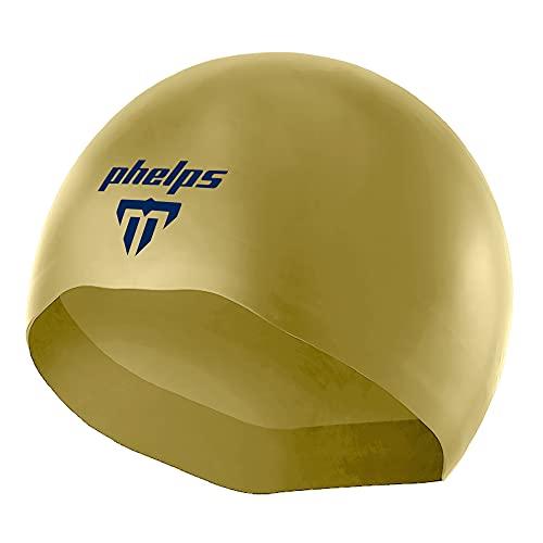 Aqua Sphere MP Michael Phelps X-02 - Gorro de natación para adulto para natación de competición, talla grande, color dorado