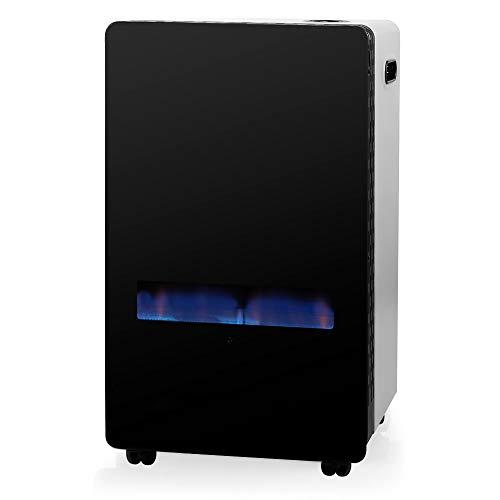 Haltra Estufa de Gas HBF 100 HT Llama Azul, 3800W, Frontal Cristal Templado