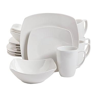 Gibson Home Zen Buffetware 16 Piece Dinnerware Set, White - 102539.16RM