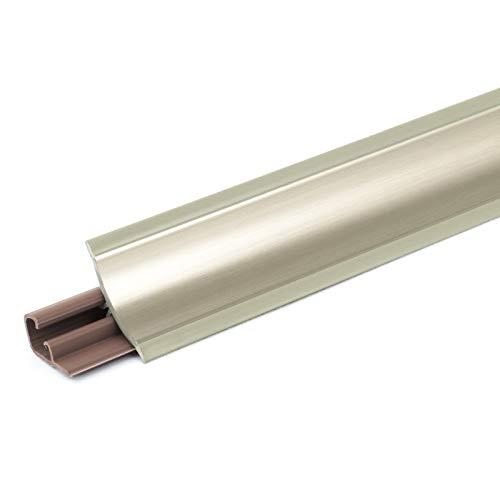 DQ-PP 3m WINKELLEISTE | Chrom | 23 x 23mm | PVC | GRATIS Schrauben | Küchenleiste Arbeitsplatte Abschlussleiste Leiste Küche Küchenabschlussleiste Wandabschlussleiste Tischplattenleisten