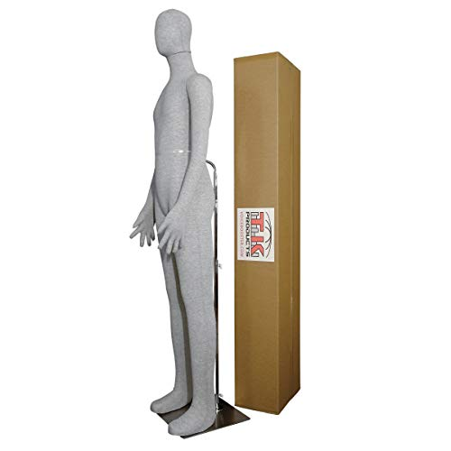 Male Mannequin, Flexible Posable Bendable Full-Size Soft -Grey, by TK Products, Great for Costumes