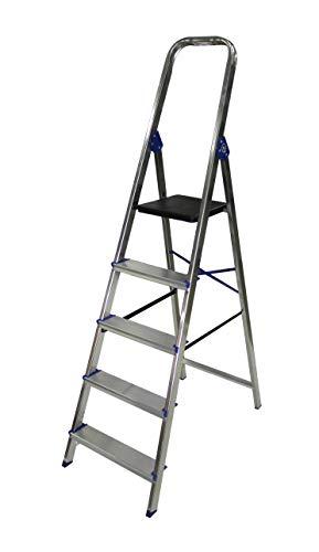 Escalera domestica de aluminio Altipesa (Aluminio, 5 PELDAÑOS)