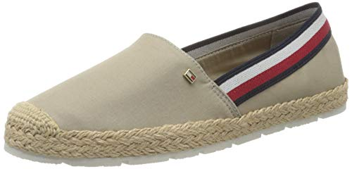 Tommy Hilfiger Damen Basic Tommy Corporate Espadrille Pumps, Beige (Stone Aep), 36 EU