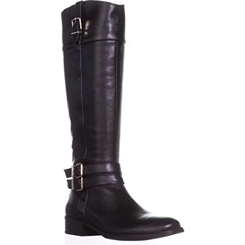 INC Womens Frank II Leather Knee-High Riding Boots Black US 5.5 Medium (B,M)