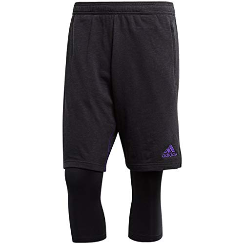 adidas Sport Paul Pogba EH5754 814479 - Pantalones Deportivos 3/4 para Hombre, Color Negro, Color Negro, tamaño Large