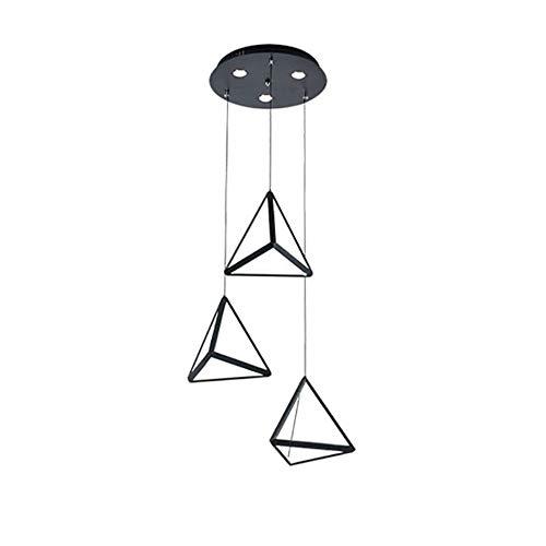 Lampada a sospensione LED Ferro Battuto Sala da pranzo Lampadario, tre moderni minimalista triangolare luce di soffitto principale creativa Lampadario, Altezza 250 millimetri * Larghezza 250 millimetr