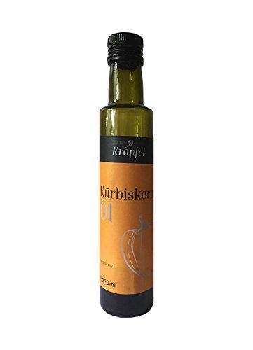 Kröpfel Kürbiskernöl, kaltgepresst, 100% rein, Glasflasche, 250ml, A Qualität, aus Österreich