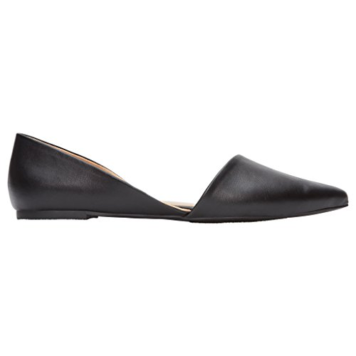 Rohb by Joyce Azria Provence D'Orsay Pointy Toe Flat (Black Pu) Size 6.5