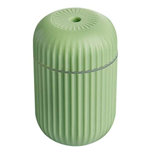 TOOGOO Humidificador de Aire PortáTil Humidificadores de Niebla FríA, Difusores Silenciosos de Escritorio USB Luz Nocturna para Oficina Dormitorio de Bebé, Verde