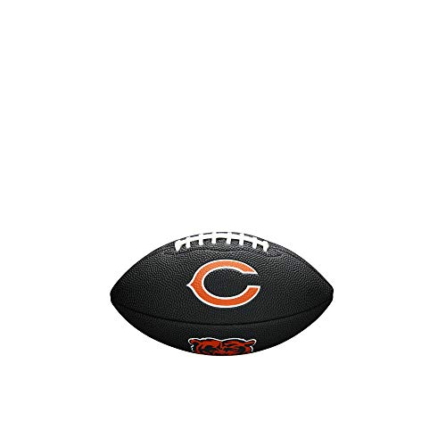 NFL Team Logo Mini Football, Black - Chicago Bears
