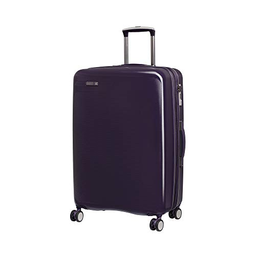 it luggage Signature 8-Wheel Hardside Expandable, Black Cordial - Purple, Checked-Medium 28-Inch
