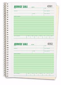 EGP Service Call Book - 1 Pack of 3 Books, 5 5/8' x 8 1/2'