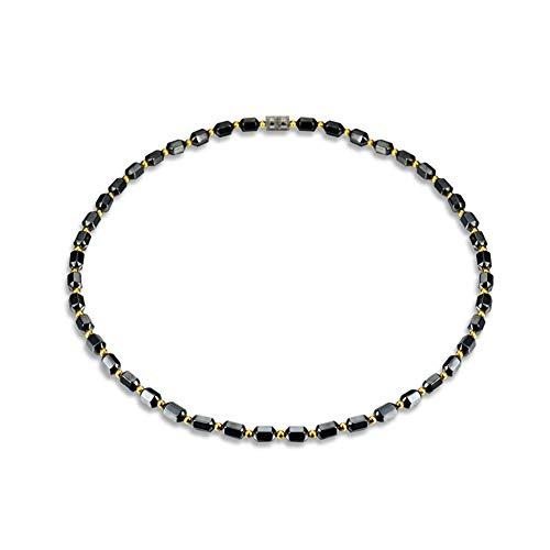 FyaWTM Collana Ciondolo for Collana Magnetica con Perline a Prisma Esagonale in Ematite Artificiale