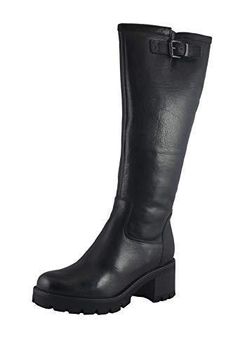 MANAS Damen Stiefel 10143MA schwarz Leder Lammfellsohle Profil Gummisohle Größe 40
