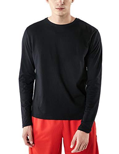 (テスラ)TESLA 長袖 Tシャツ ドライ スポーツシャツ メンズ [UVカット・吸汗速乾] アクティブ 機能性 ランニングウェア MTL50-BLK_M