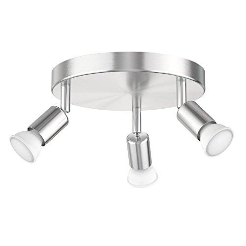 ledscom.de Deckenleuchte LUNARA, dreiflammig inkl. 460lm LED GU10 Lampen, warm-weiß