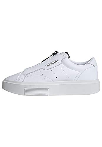 adidas Sleek Super Zip Shoes Women's, White, Size 6