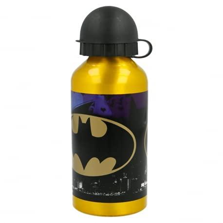 Borraccia Bottiglia in Alluminio per Bambini 400ml con beccuccio retraibile (Batman)