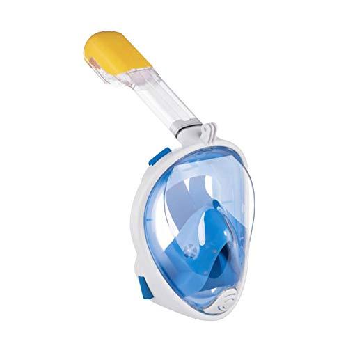 Ukuding Schnorchelmaske Vollmaske, Tauchmaske, Aqua Lung Mix Tauchset Vollgesichtsschnorcheln Anti-Fog-Gesichtsschutzset Für Kinder Anti-Nebel Und Anti-Leckage,Xs