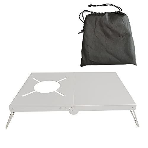 conpoir Campingtisch Klappherd Ständer Halterung Halter Aluminiumlegierung Brennerständer Wärmedämmung mit Aufbewahrungstasche für Outdoor Camping Picknick Grill BBQ