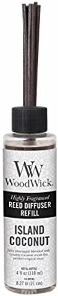 ISLAND COCONUT WoodWick 4 Oz Refill For Reed Or Spill Proof Diffusers By WoodWick