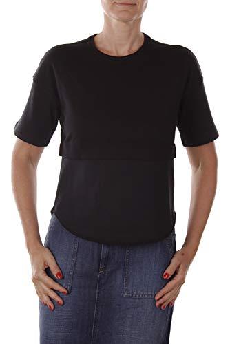 Diesel Negro Oro Tumat Top Camiseta Mujer (XS, Negro)